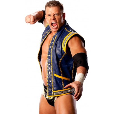 Alex Riley Blue Vest | Mens Blue Leather Vest