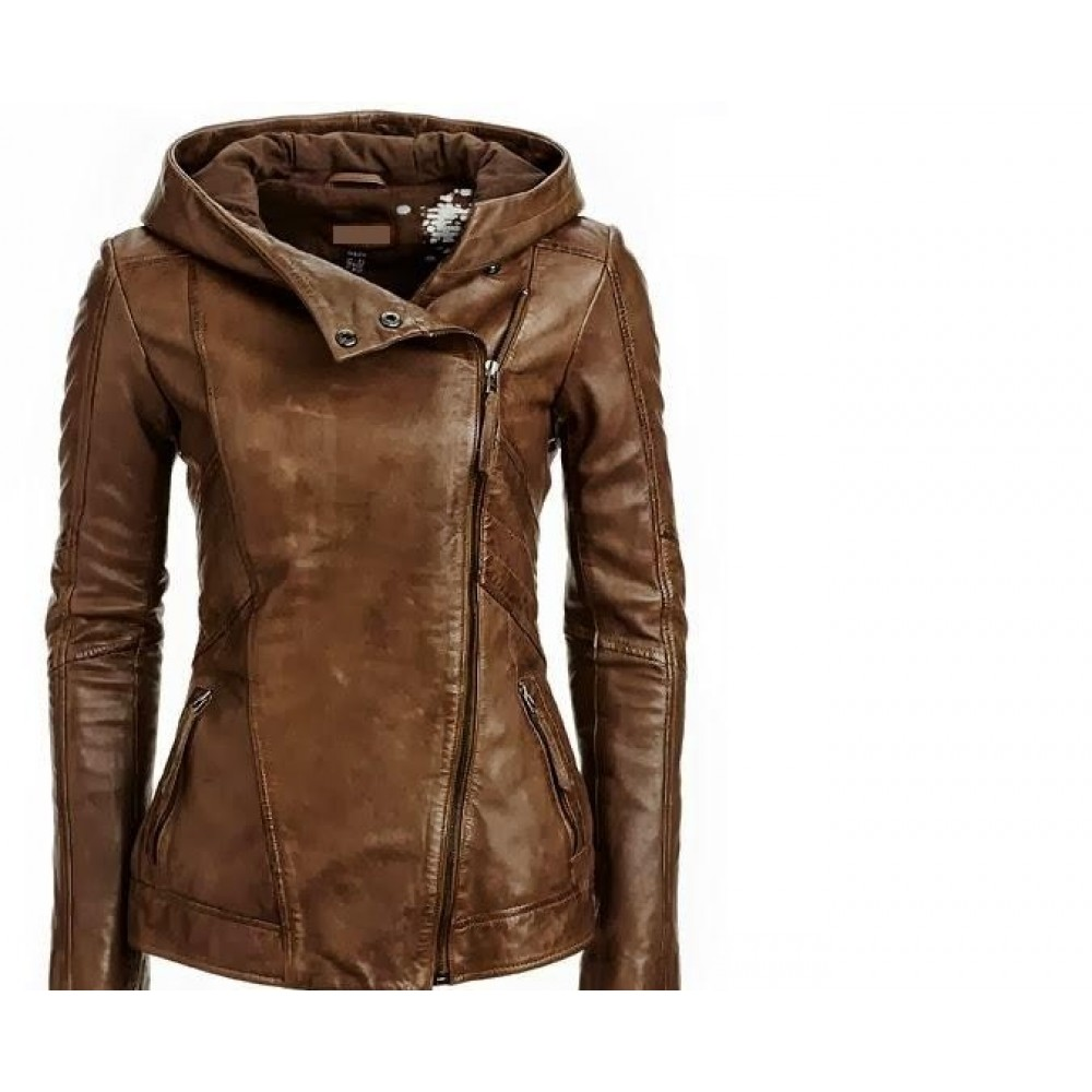 24cd09e7f0 Arrow Women Brown Leather Jacket | Women Distressed Jackets