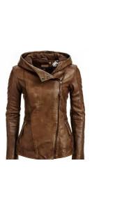 Arrow Women Brown Leather Jacket | Women Distressed Jackets