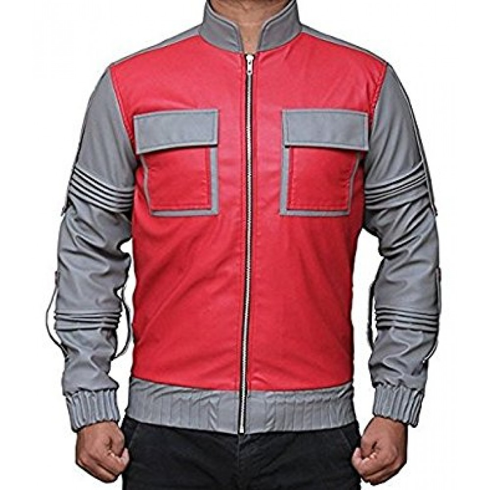 BACK TO THE FUTURE MARTY MAYFLY LEATHER JACKET FOR SALE