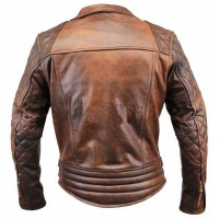 Biker Motorcycle Vintage Brown jacket | Distressed Jackets