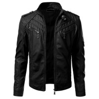 Black Slim Fit Biker Leather Jackets | Biker Leather Jacket