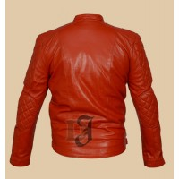 Quilted Brando Vintage Red Motorcycle Leather Jacket | Red Jackets