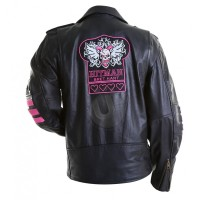 Bret Hitman Hart Leather Jacket | Leather Jacket For Men's