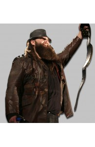 Brown Bray Wyatt Leather Jacket For mens For Sale