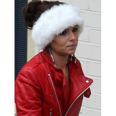 NEW CHERYL COLE SANTA CLAUS INSPIRED LEATHER JACKET FOR VALENTINE