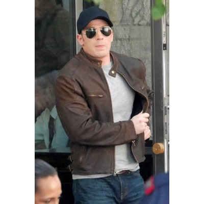 CAPTAIN AMERICA CIVIL WAR STEVE ROGERS Jacket | Distressed Jackets