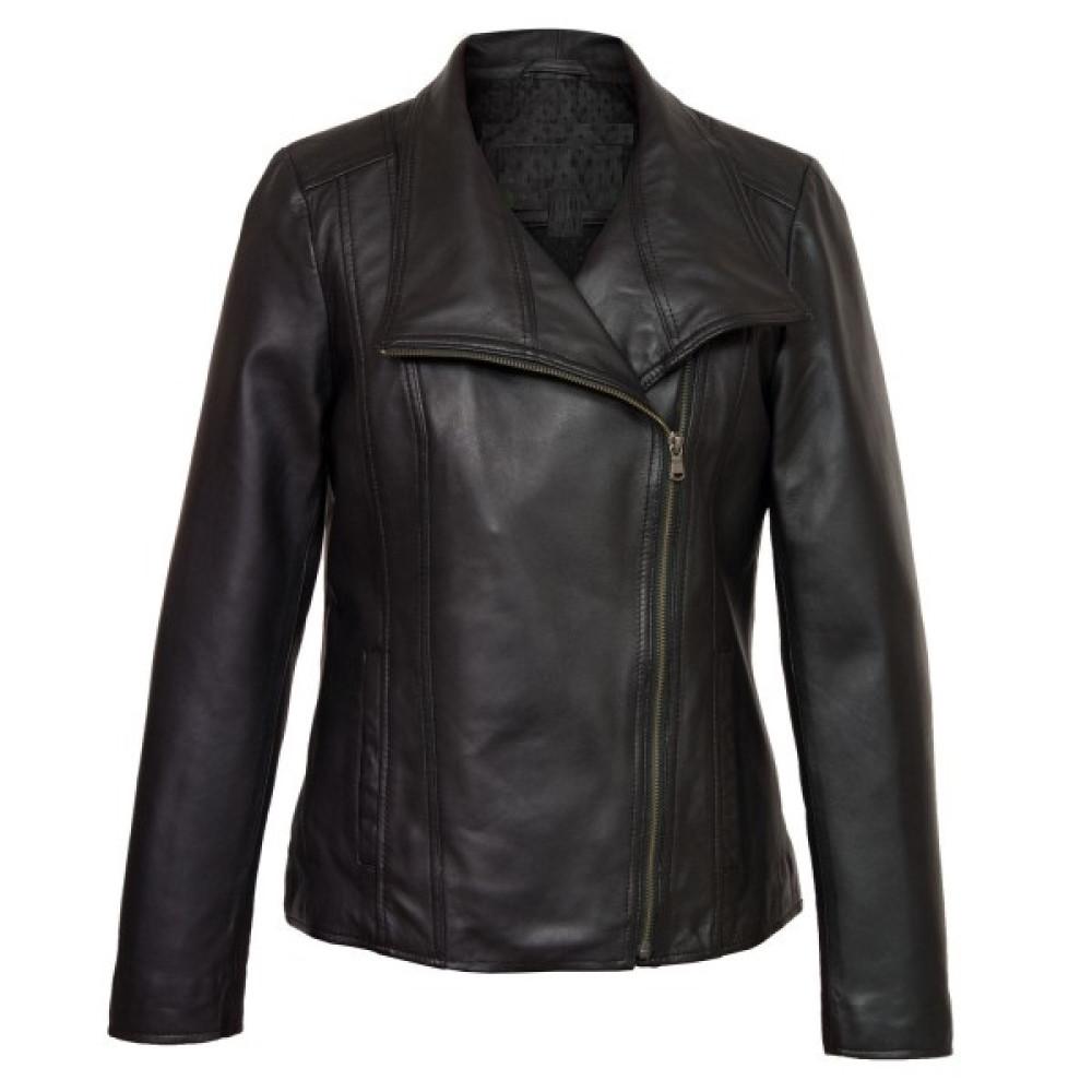 Cayla Black Leather Biker Leather Jacket | Mens Black Jackets