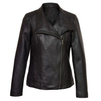 Cayla Black Leather Biker Leather Jacket | Mens Black Jackets