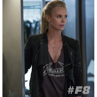 Charlize Theron Fast 8 Movie leather Jacket | Women Movie Jacket