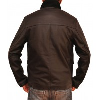 Brown Casino Royale Leather Jacket For Sale  | HOT SALE