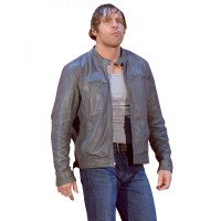 Dean Ambrose Grey Leather Jacket | Leather Jacket For Men's