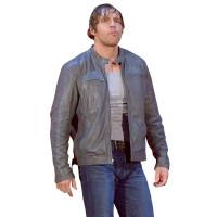 Dean Ambrose Grey Leather Jacket | Leather Jacket For Men's