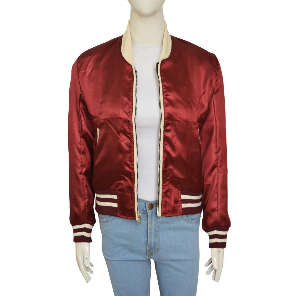 Emma Roberts Nerve 2016 Movie Vee Red Jacket | Distressed Jackets