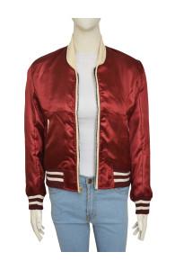 Emma Roberts Nerve 2016 Movie Vee Red Jacket   Distressed Jackets