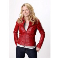 Red Emma Swan Once Upon A Time Leather Jacket for women