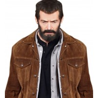 Logan Hugh Jackman Suede Jacket | Brown Suede Jacket