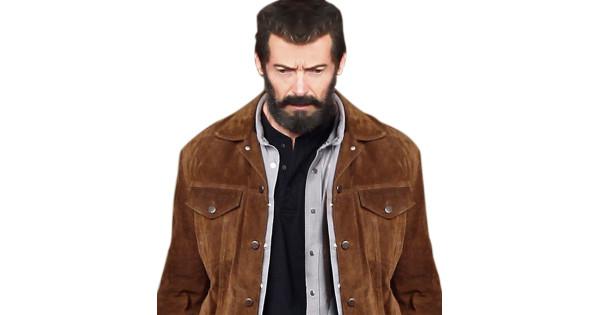 138c35cbd Logan Hugh Jackman Suede Jacket | Brown Suede Jacket
