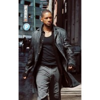 I Robot Will Smith Del Spooner Leather Coat | Black Long Coat