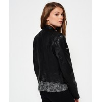 Malibu Racer Leather Jacket | Women Black jacket