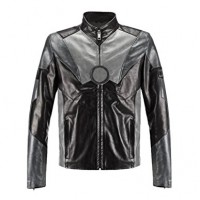 Men's Iron Man Celebrity Leather Jacket | Distressed Black Jackets