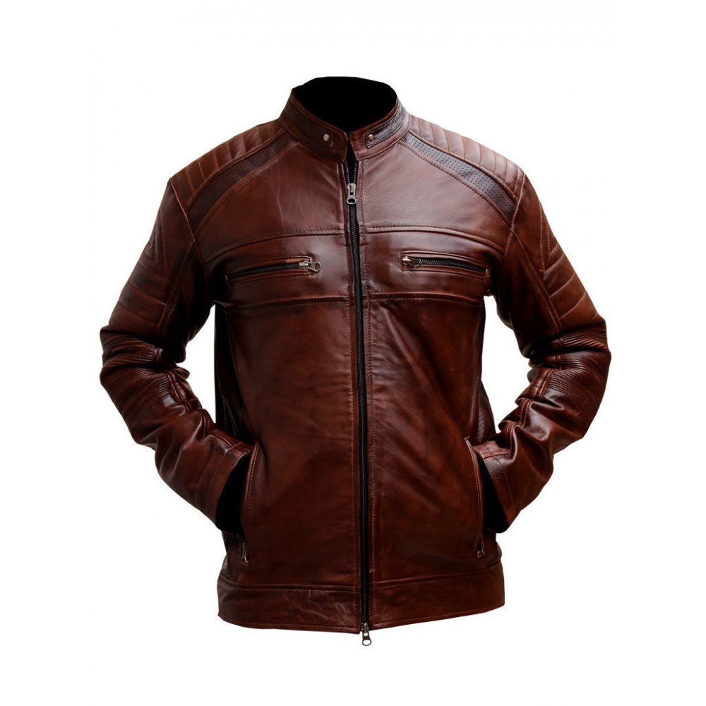 Brown leather jackets online