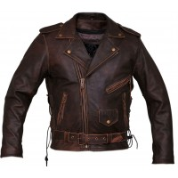 Motorcycle Vintage Distressed Brown Leather For sale  | Mens Distressed Jacket