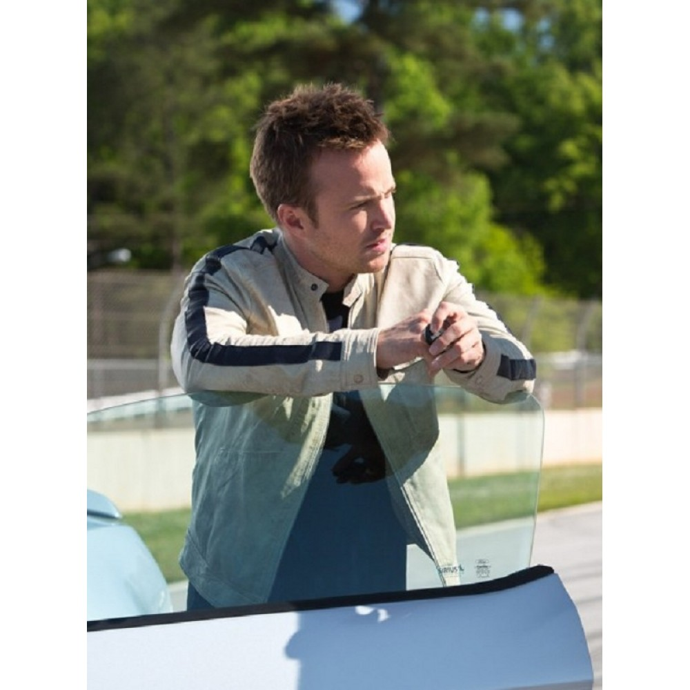 Need For Speed Aaron Paul White Leather Jacket | White Leather Jackets