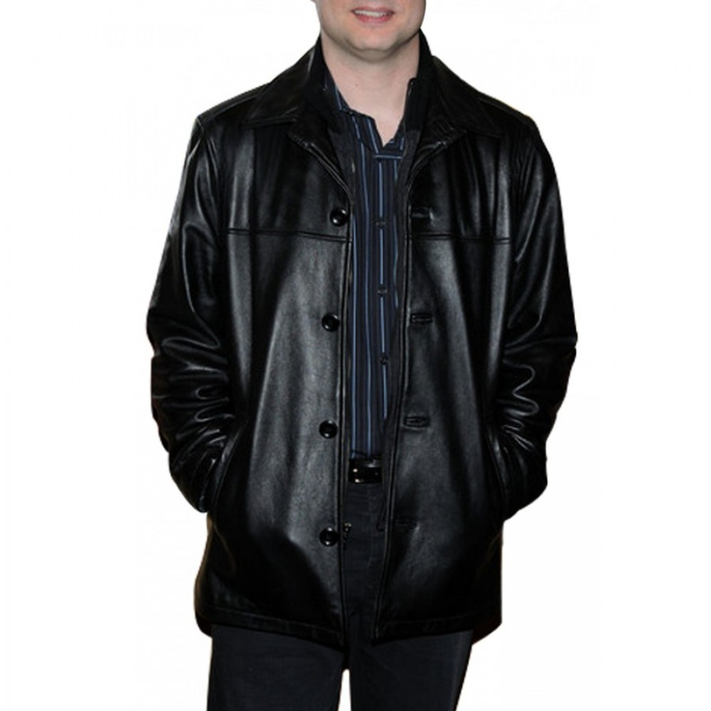 Paul Blat Mall Cop 2 Kevin James Black Leather Jacket  | Black Jackets