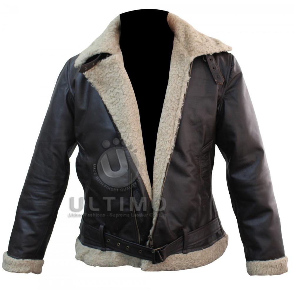 Buy Bomber Style Rocky Balboa Leather Faux Shearling Jacket Rocky
