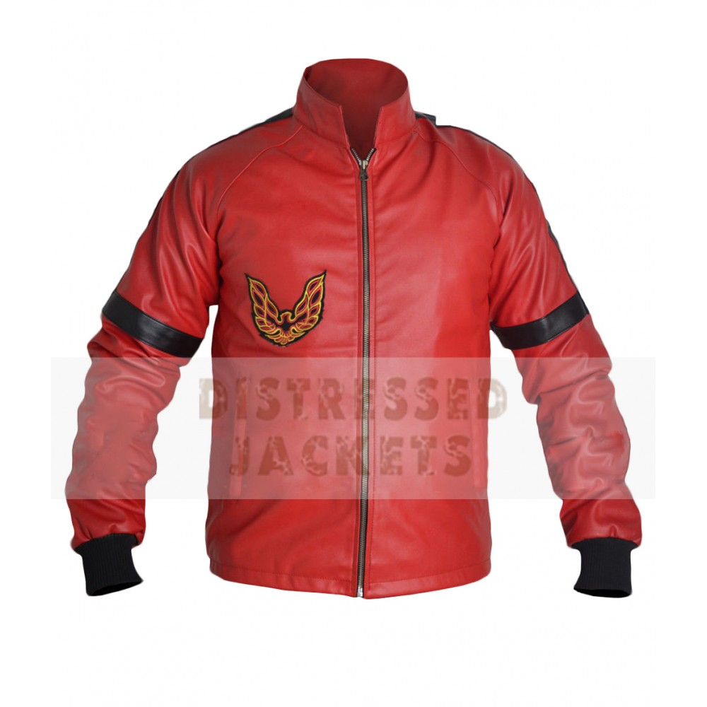 New Smokey and the Bandit Burt Reynolds Red Leather Jacket | Mens Leather Jacket