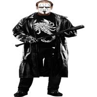 Popular Wrestler Sting Returns Black Leather Coat   Mens Leather Coat
