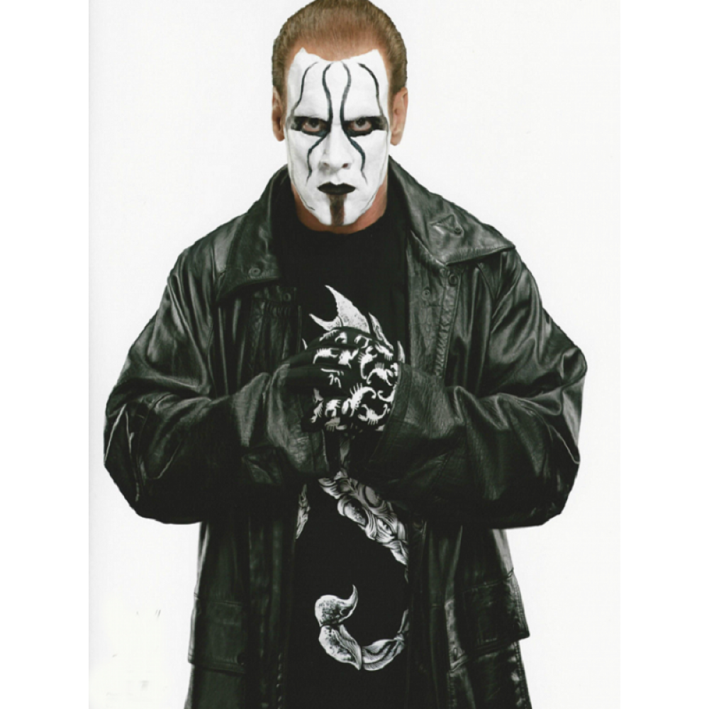 Popular Wrestler Sting Returns Black Leather Coat | Mens Leather Coat
