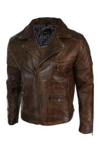 Vintage Biker Distressed Real Leather jacket | Dark Brown Jackets