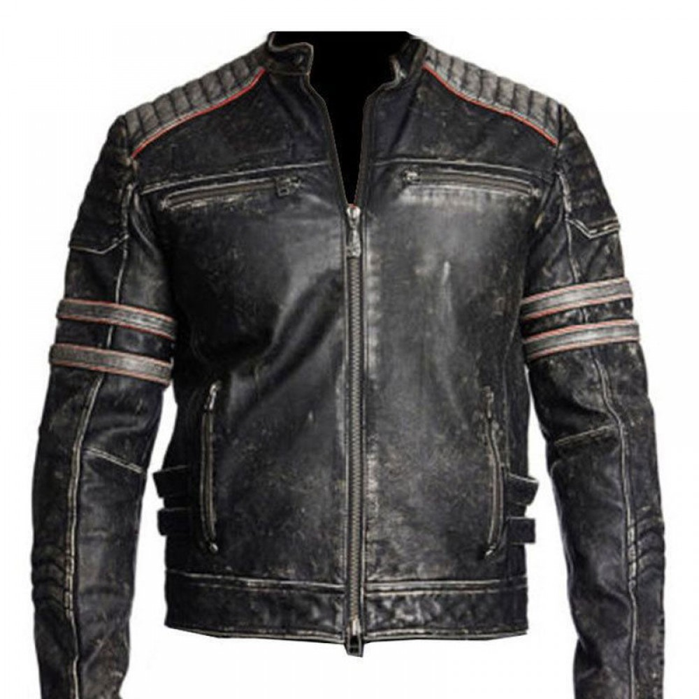 a4684363e43 Buy Vintage Motorcycle Distressed Black Leather jackets In New York ...