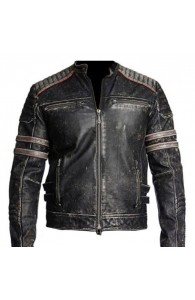 Vintage Motorcycle Distressed Black | Union Jack Jacket
