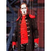 WWE Superstar Sting Scorpion Design Trench Coat | Mens Leather Coat