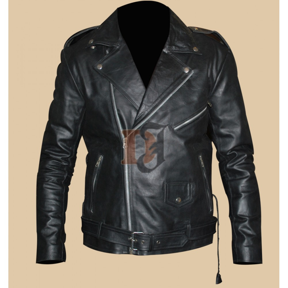 Zayn Malik One Direction Black Motorcycle Jacket | Black Biker Jackets