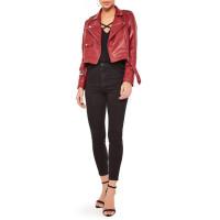 Biker Leather Moto Jacket for Womens   Women Red jackets