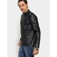 Navy Men's Regular Fit Winter Jacket | Leather Jacket For Men's