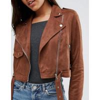 Womens Suede Biker Jacket | Women Suede Leather Jacket