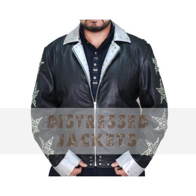 NEW MENS Jacket   Black Distressed Leather Jacket for sale