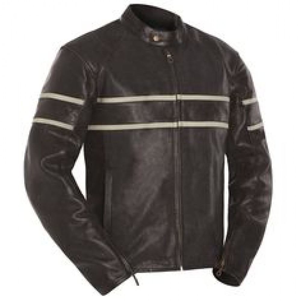 Cafe Racer Leather Motorcycle Jacket | Distressed Leather Jacket