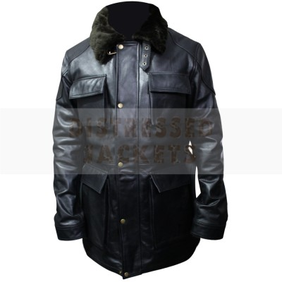 Black Stylish New Design Leather Coat | Men's Leather Coat
