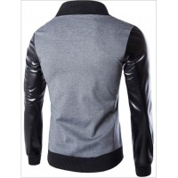 Mens New Jacket with leather sleves | Mens Bomber Jackets