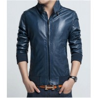 New Blue Mens Bikers Leather Jackets | Leather Jacket For Mens