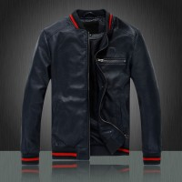 Distressed Blue Mens Motorcycle leather jackets for sale