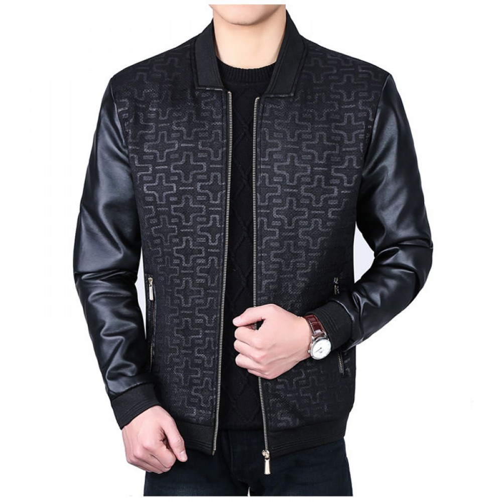 New Men's Black Motorcycle Leather Jacket | Men's Leather Jacket
