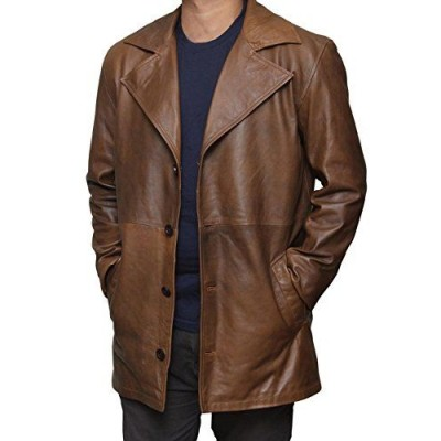 Dawn of Justice Batman Knightmare Distressed Leather Trench Coat | Distressed Leather Coat