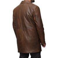 Dawn of Justice Batman Knightmare Distressed Leather Trench Coat | Distressed Leather Coat